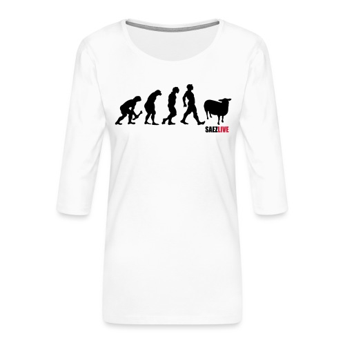 J'accuse (version dark, par parek) - T-shirt Premium manches 3/4 Femme