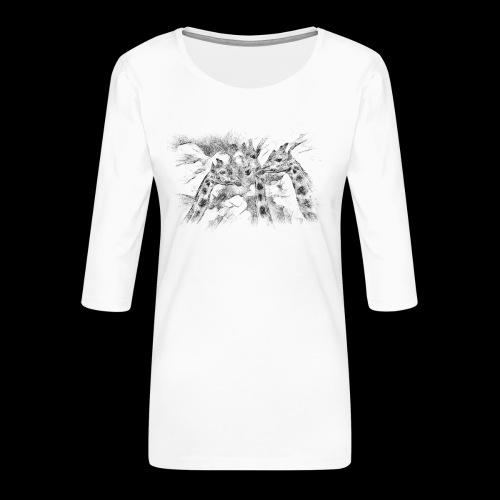 les girafes bavardes - T-shirt Premium manches 3/4 Femme
