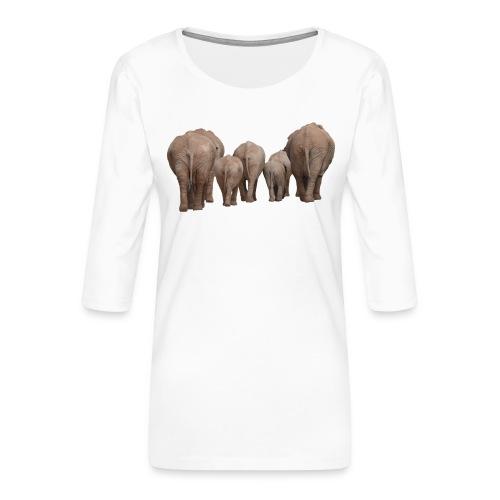 elephant 1049840 - Maglietta da donna premium con manica a 3/4
