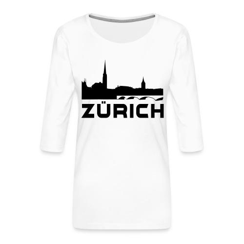 Zürich - Frauen Premium 3/4-Arm Shirt