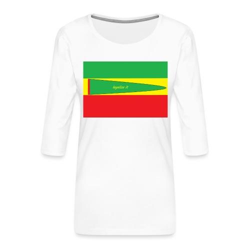 Immagine_1-png - Maglietta da donna premium con manica a 3/4