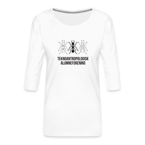 Teknoantropologisk Støtte T-shirt alm - Dame Premium shirt med 3/4-ærmer