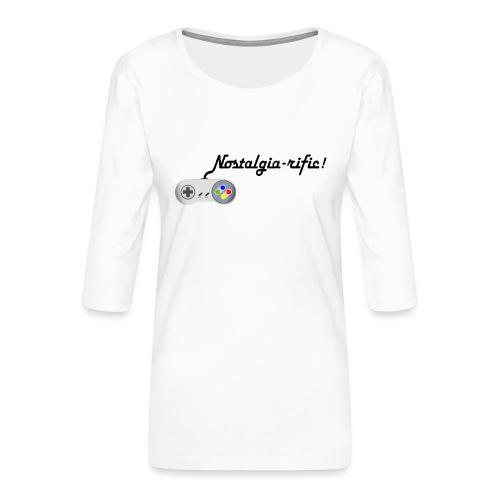 Nostalgia-rific! - Women's Premium 3/4-Sleeve T-Shirt
