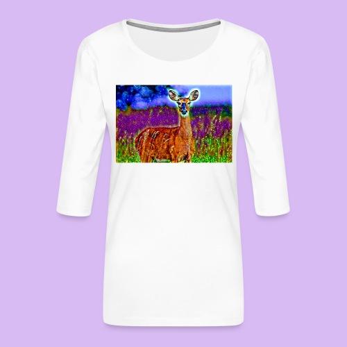 Cerbiatto con magici effetti - Maglietta da donna premium con manica a 3/4