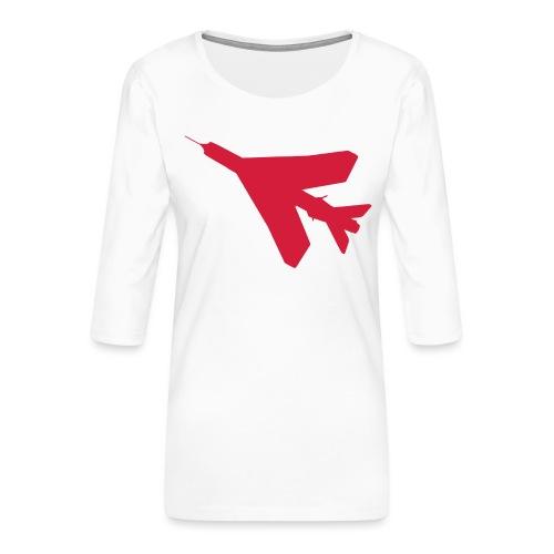 BAC English Electric Lightning Silhouette - Women's Premium 3/4-Sleeve T-Shirt