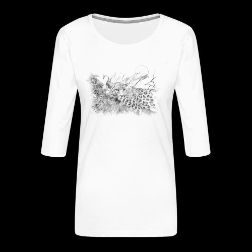 La panthère dans l'arbre - T-shirt Premium manches 3/4 Femme
