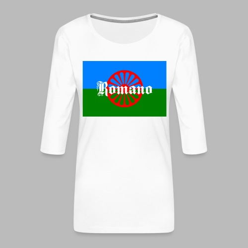 Flag of the Romanilenny people svg - Premium-T-shirt med 3/4-ärm dam