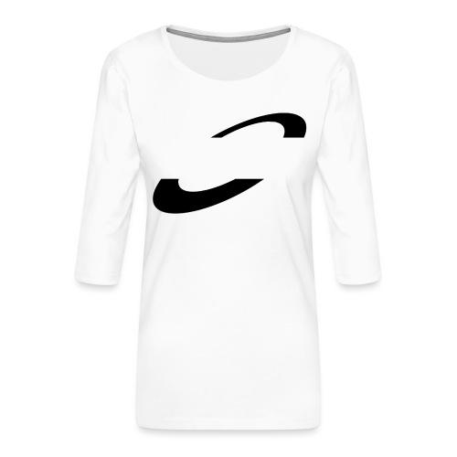 Planet Cycling Icon Black - Women's Premium 3/4-Sleeve T-Shirt