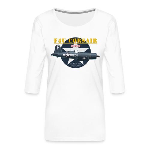 F4U Jeter VBF-83 - Women's Premium 3/4-Sleeve T-Shirt