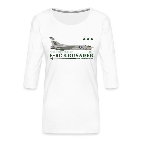 F-8C Crusader VMF-333 - Women's Premium 3/4-Sleeve T-Shirt