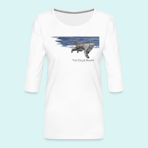 Polar-Blues-SpSh - Women's Premium 3/4-Sleeve T-Shirt