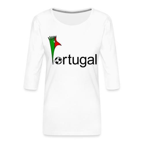 Galoloco Portugal 1 - T-shirt Premium manches 3/4 Femme