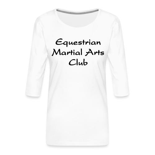 EMAC_logo_teksti - Naisten premium 3/4-hihainen paita