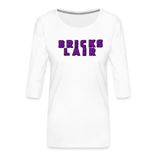 BrickslairLogoMerch - Women's Premium 3/4-Sleeve T-Shirt