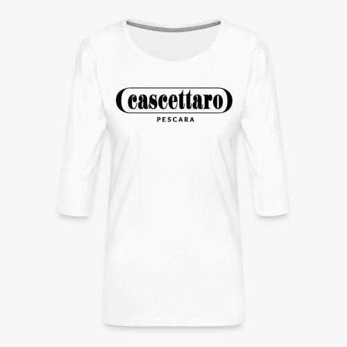 Cascettaro - Maglietta da donna premium con manica a 3/4