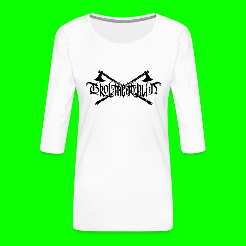 Grol Logo - Women's Premium 3/4-Sleeve T-Shirt