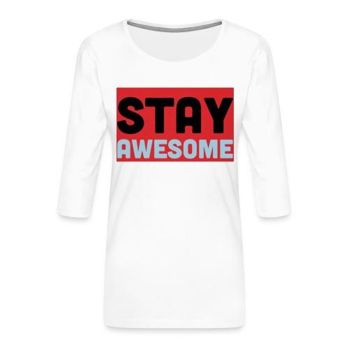 425AEEFD 7DFC 4027 B818 49FD9A7CE93D - Women's Premium 3/4-Sleeve T-Shirt
