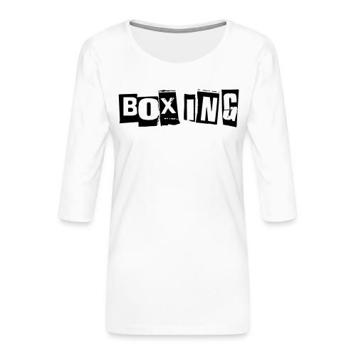 boxing - T-shirt Premium manches 3/4 Femme