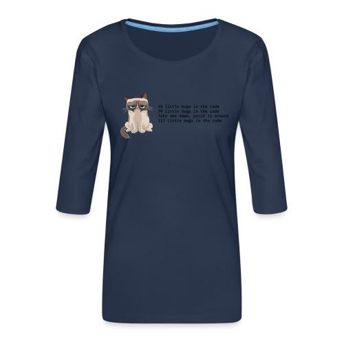 99 litle bugs of code - Vrouwen premium shirt 3/4-mouw
