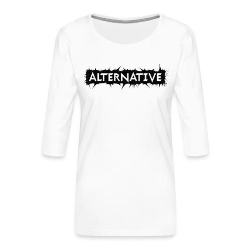 Spike T-shirt White - Koszulka damska Premium z rękawem 3/4