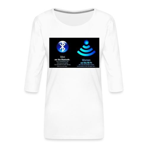 WIFI - Vrouwen premium shirt 3/4-mouw