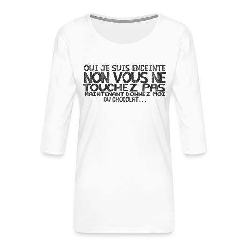 T-Shirt-Femme-Enceinte-Chocolat - T-shirt Premium manches 3/4 Femme