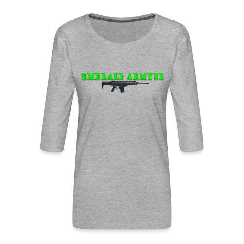 EMERALDARMYNL LETTERS! - Vrouwen premium shirt 3/4-mouw