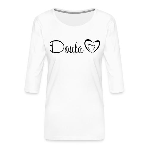 doula polkuna sydämet - Naisten premium 3/4-hihainen paita