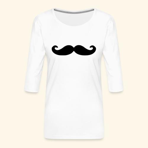 Loco Moustache - Vrouwen premium shirt 3/4-mouw