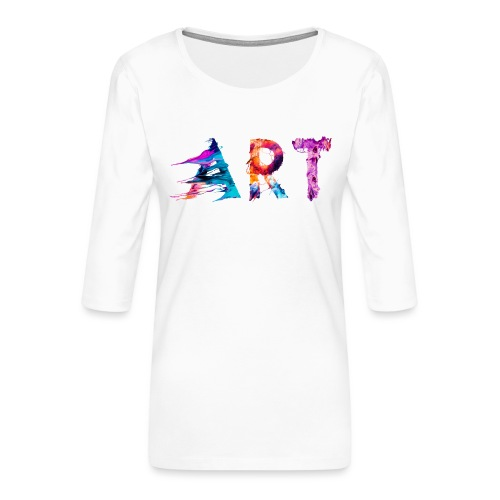 Art - T-shirt Premium manches 3/4 Femme
