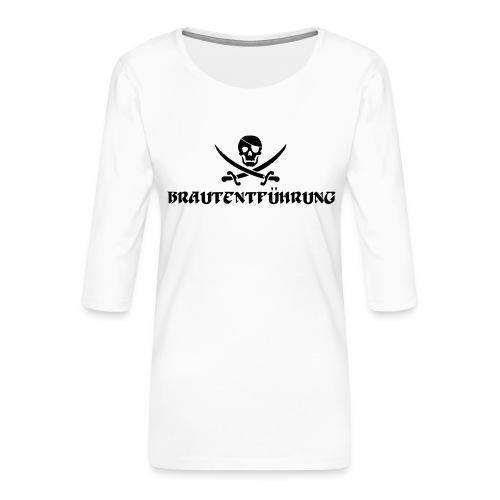 Brautentführung Piratenflagge Junggesellinnen - Frauen Premium 3/4-Arm Shirt