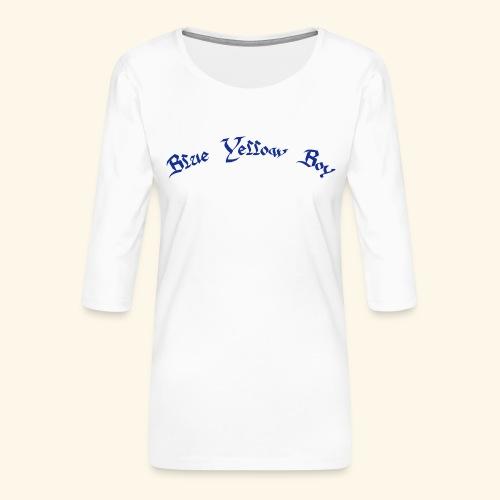 Blue Yellow Boy gebogen - Frauen Premium 3/4-Arm Shirt