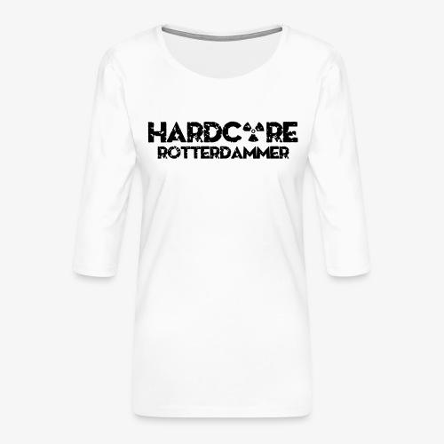 Hardcore Rotterdammer - Vrouwen premium shirt 3/4-mouw