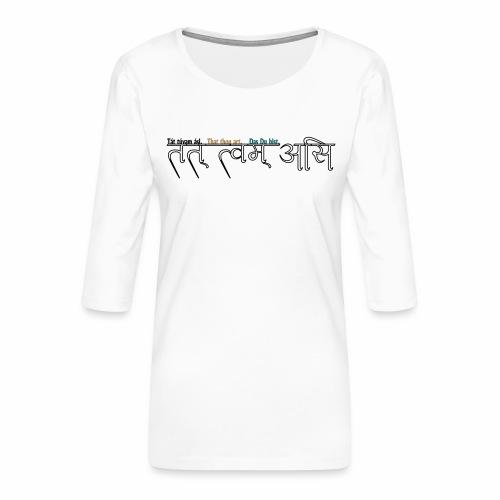 du bist's - Frauen Premium 3/4-Arm Shirt