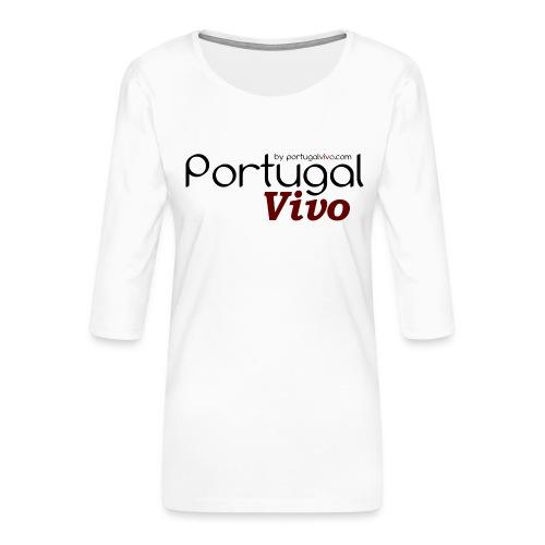 Portugal Vivo - T-shirt Premium manches 3/4 Femme
