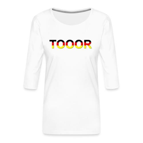 TOOOR-Schatten-transparen - Frauen Premium 3/4-Arm Shirt