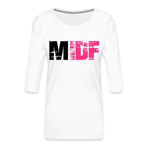 Logo MIDF 2 - T-shirt Premium manches 3/4 Femme
