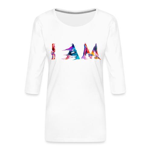 I AM - T-shirt Premium manches 3/4 Femme