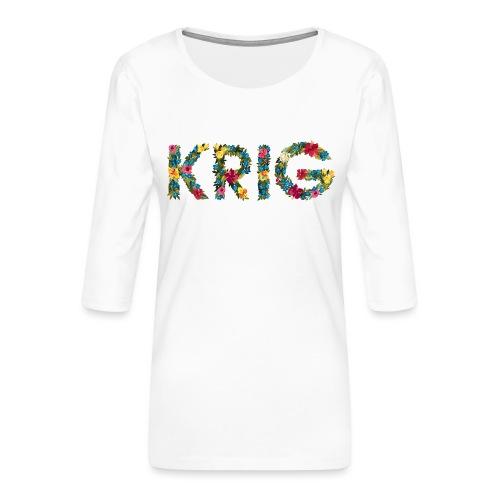 Blomstrende krig - Premium T-skjorte med 3/4 erme for kvinner