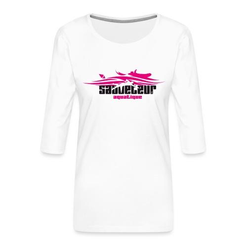 sauveteur aquatique - T-shirt Premium manches 3/4 Femme