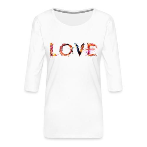 Love - T-shirt Premium manches 3/4 Femme