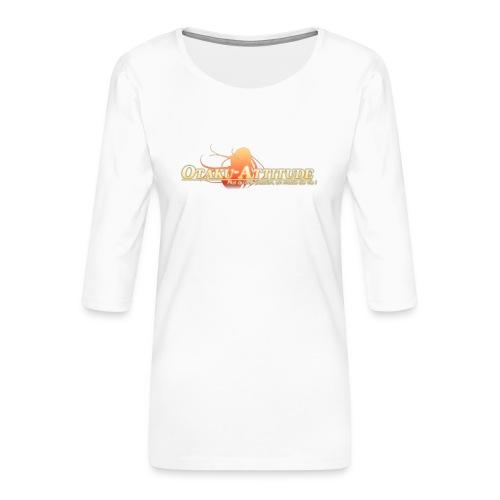 logo oa v3 v1 fond clair - T-shirt Premium manches 3/4 Femme