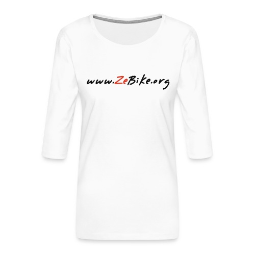 wwwzebikeorg s - T-shirt Premium manches 3/4 Femme