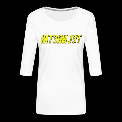 Internjet transparent - Naisten premium 3/4-hihainen paita