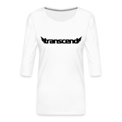 Transcend Mug - Black Print - Women's Premium 3/4-Sleeve T-Shirt