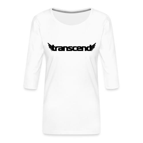 Transcend Tank Top - Women's - Neon Yellow Print - Women's Premium 3/4-Sleeve T-Shirt