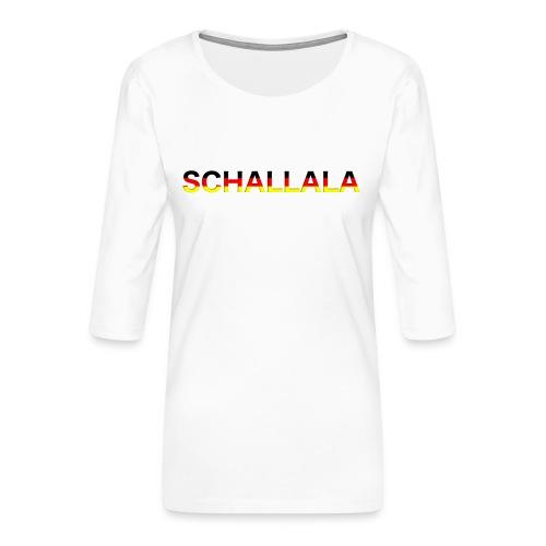 Schallala - Frauen Premium 3/4-Arm Shirt