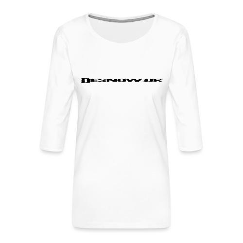 Desnow Black - Dame Premium shirt med 3/4-ærmer