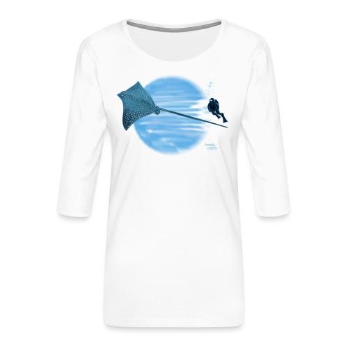 Raie stingray - T-shirt Premium manches 3/4 Femme