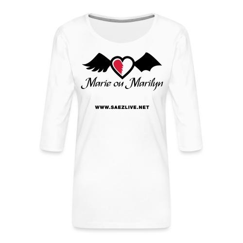 Marie ou Marilyn (version dark) - T-shirt Premium manches 3/4 Femme
